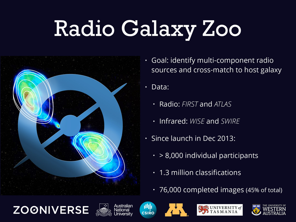 • Goal: identify multi-component radio sources ...