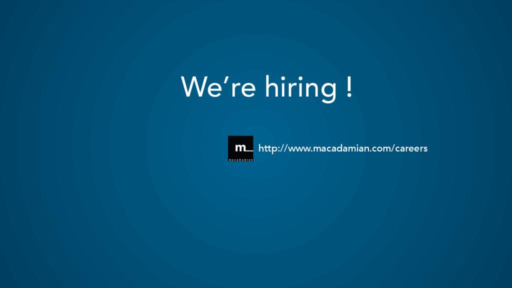 We're hiring ! http://www.macadamian.com/careers