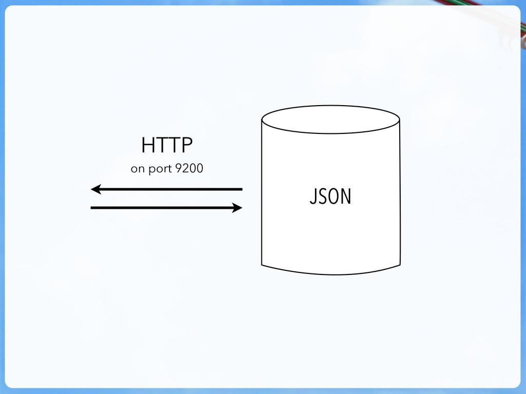 JSON HTTP on port 9200