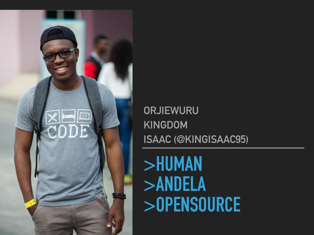 >HUMAN >ANDELA >OPENSOURCE ORJIEWURU KINGDOM IS...