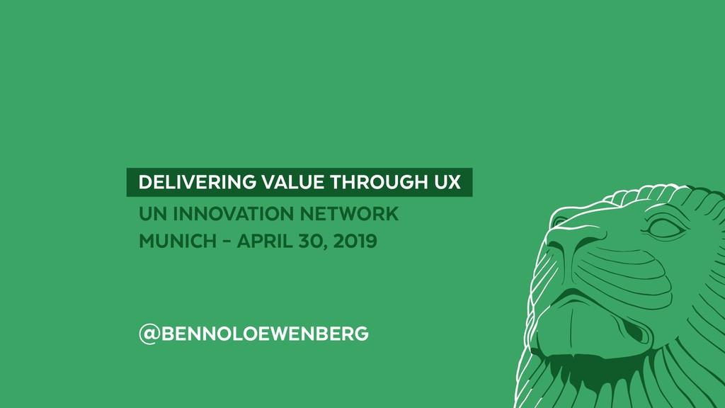 UN INNOVATION NETWORK MUNICH – APRIL 30, 2019 @...
