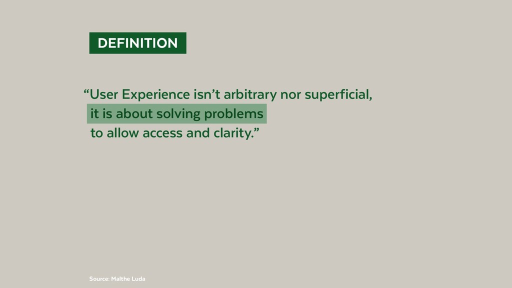 """@BennoLoewenberg DEFINITION """"User Experience ..."""