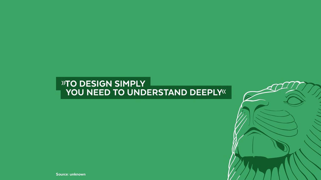 @BennoLoewenberg  »TO DESIGN SIMPLY  YOU NEE...