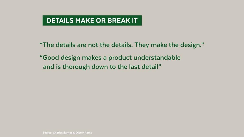 "@BennoLoewenberg  DETAILS MAKE OR BREAK IT ""T..."