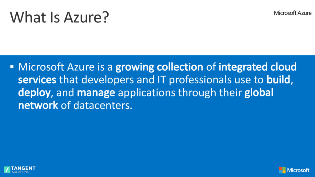What Is Azure? § Microsoft Azure is a growing c...