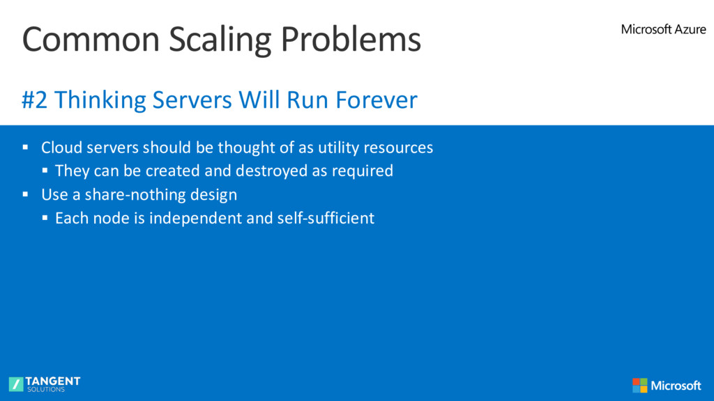 § Cloud servers should be thought of as utility...