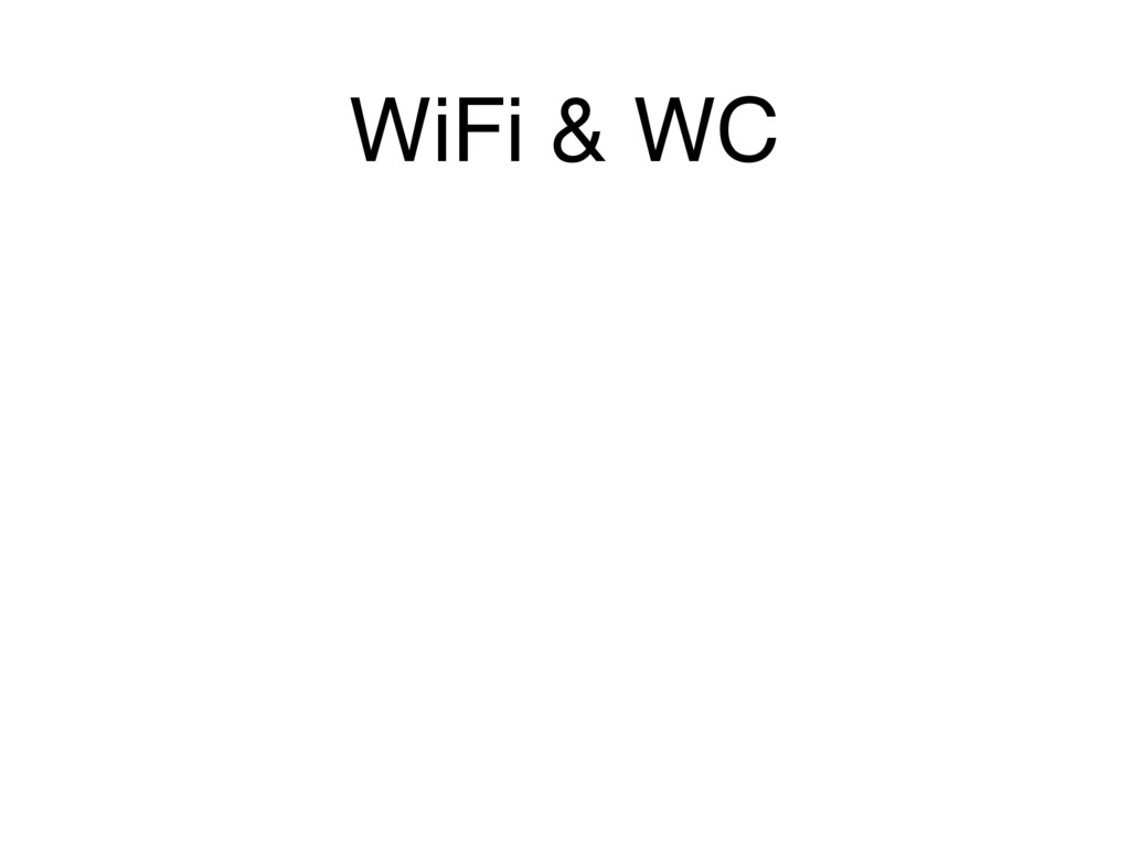 WiFi & WC