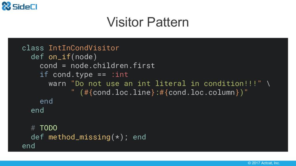 © 2017 Actcat, Inc. Visitor Pattern class IntIn...