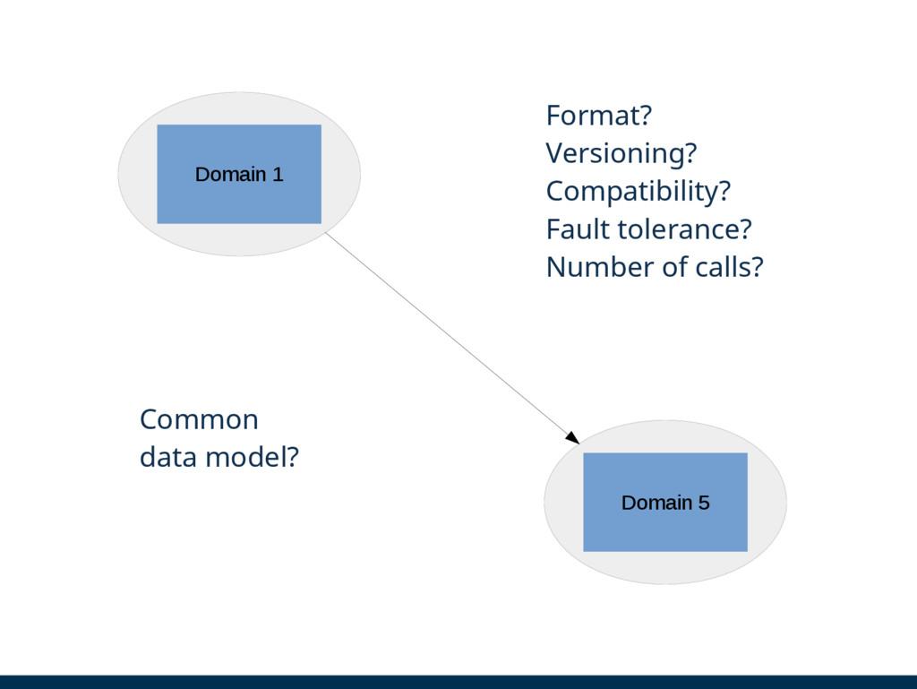 Domain 1 Domain 5 Format? Versioning? Compatibi...