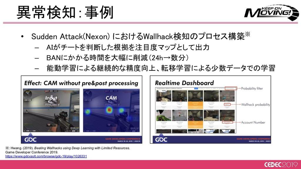 • Sudden Attack(Nexon) におけるWallhack検知のプロセス構築※ ...
