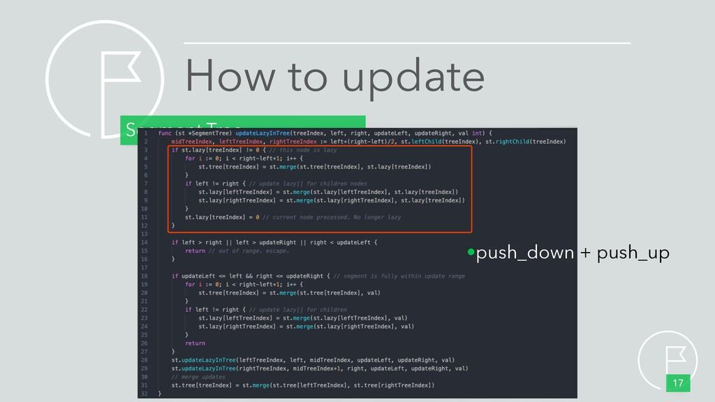 How to update Segment Tree 17 •push_down + push...