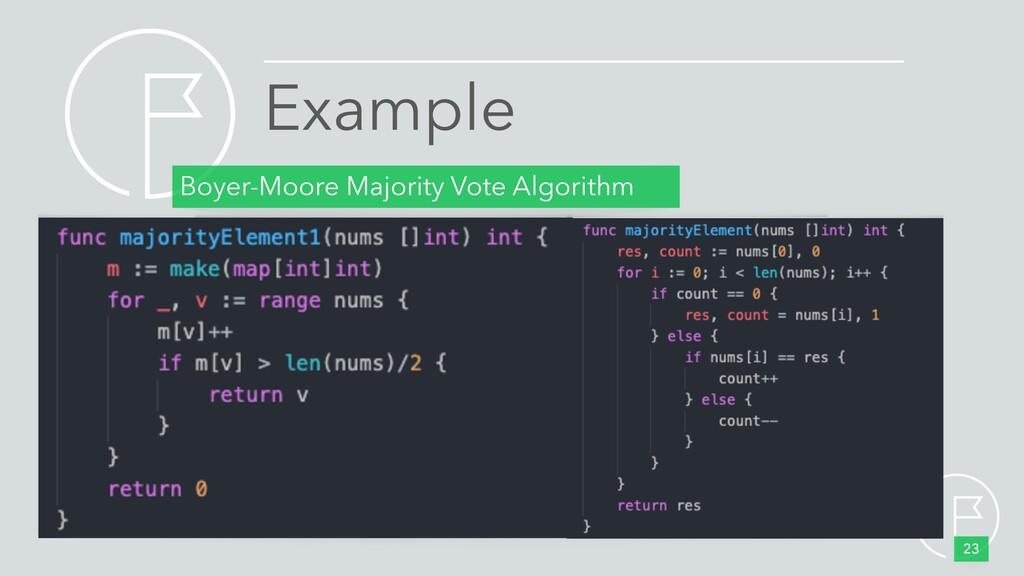 Boyer-Moore Majority Vote Algorithm 23 Example
