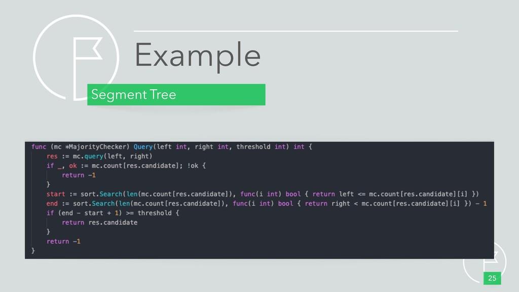 Segment Tree 25 Example •judge threshold •count...