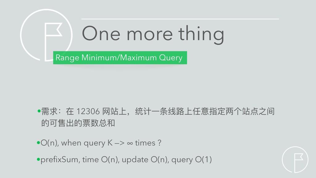 Range Minimum/Maximum Query •需求:在 12306 ⽹站上,统计⼀...