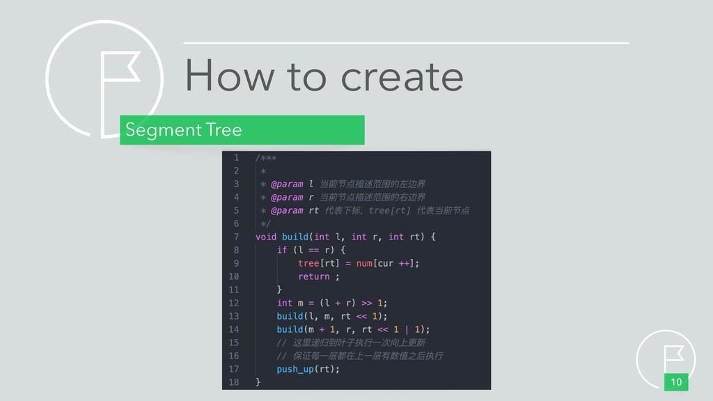 How to create Segment Tree 10