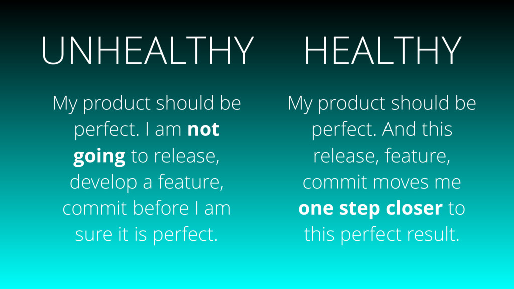 My product should be perfect. I am not going to...