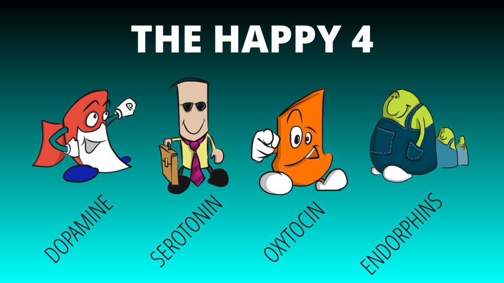 THE HAPPY 4 DOPAMINE SEROTONIN OXYTOCIN ENDORPH...