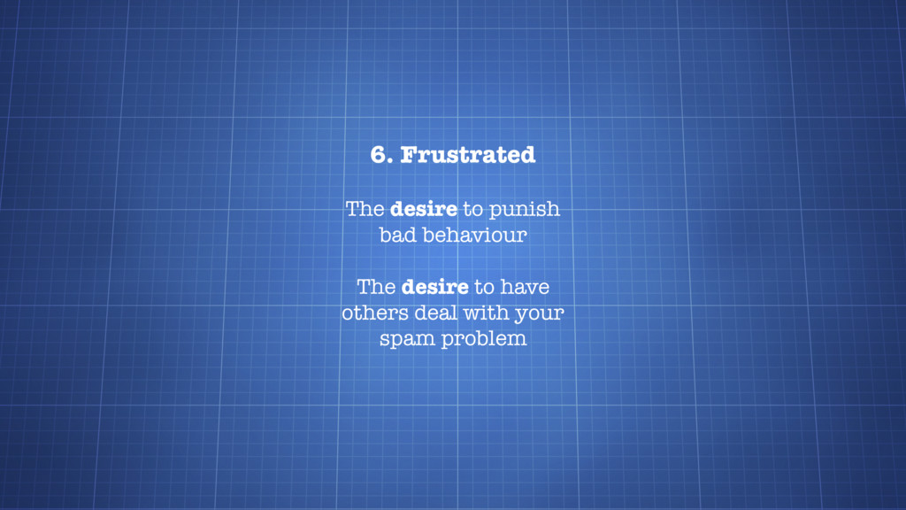 6. Frustrated The desire to punish bad behaviou...