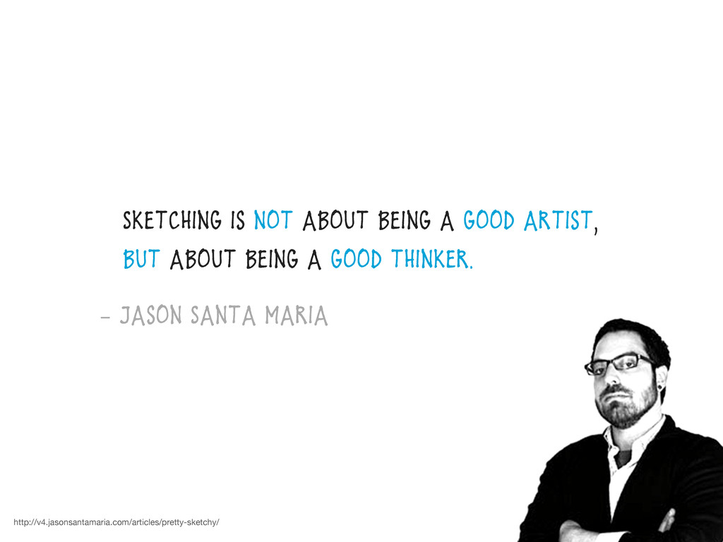 Sketching is not about being a good artist, but...