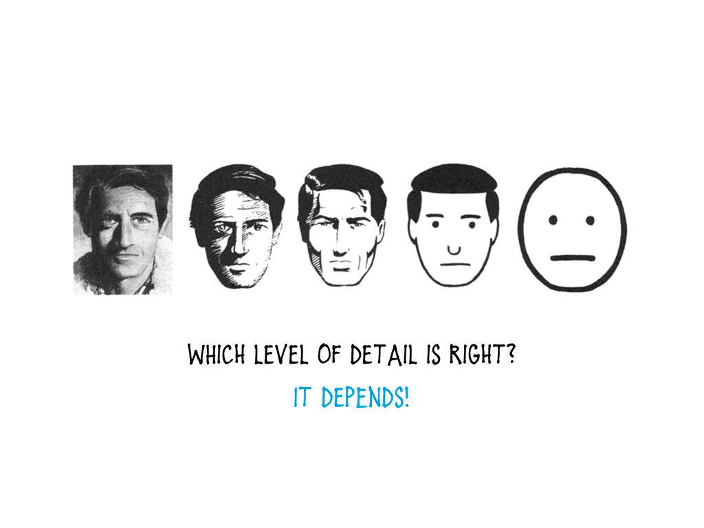 WHich level of detail is right? It depEnds!