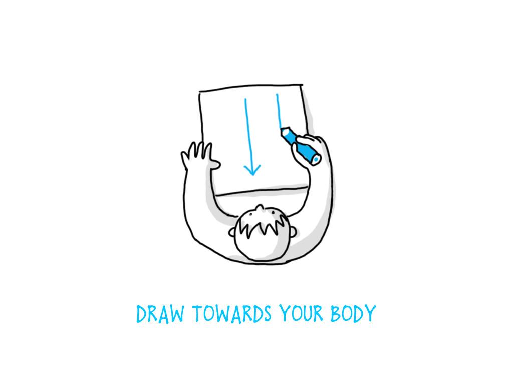DRAW TOWARDS YOUR BODY