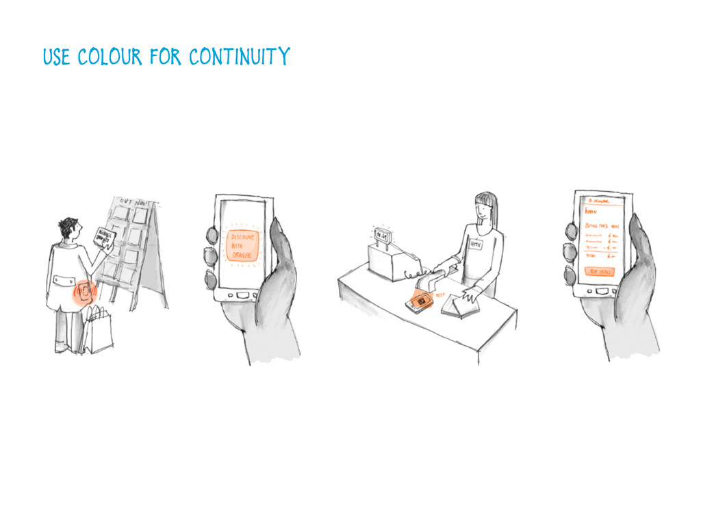 Use colour for continuity