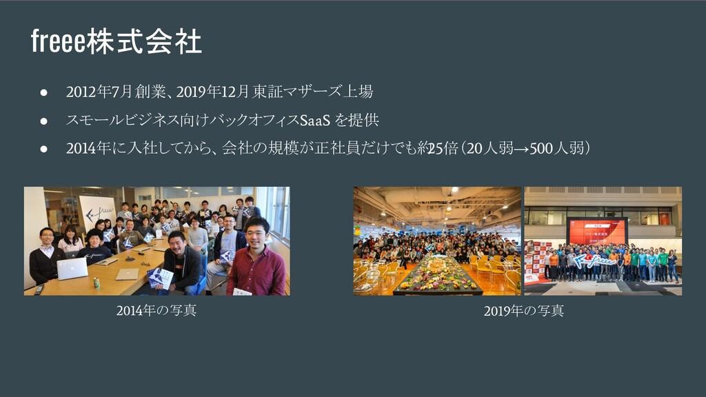 freee株式会社 ● 2012 年 7 月創業、 2019 年 12 月東証マザーズ上場 ●...