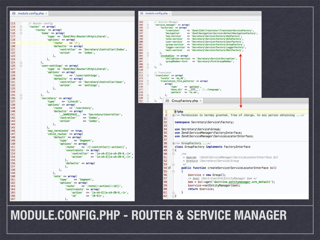 MODULE.CONFIG.PHP - ROUTER & SERVICE MANAGER