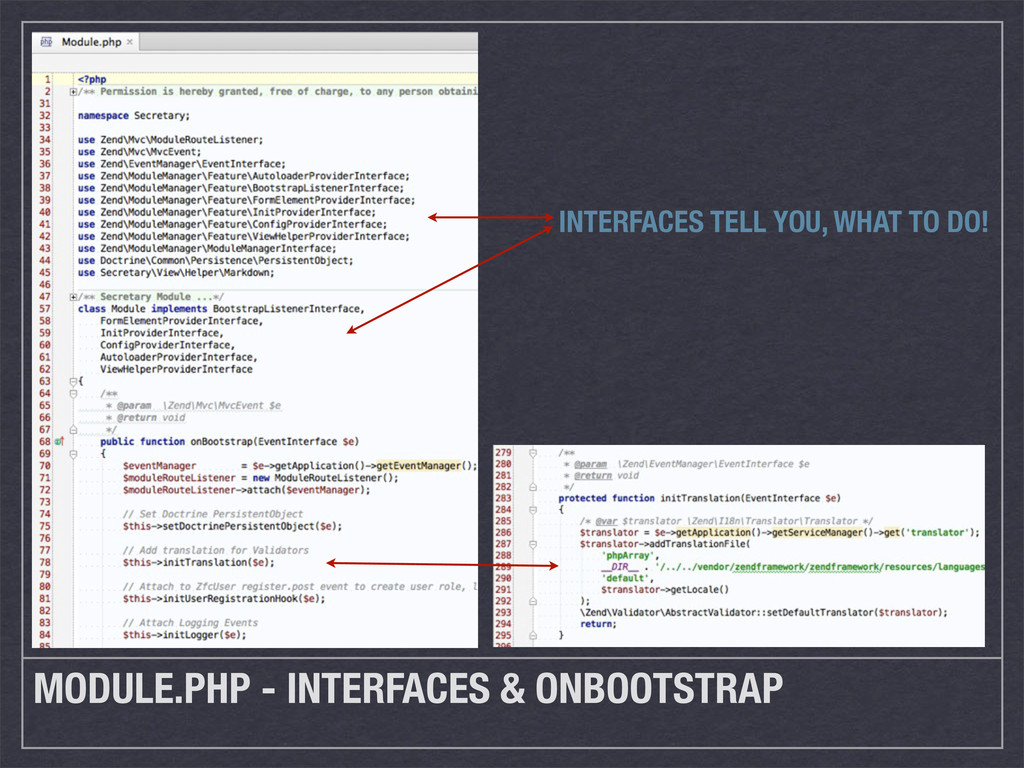 MODULE.PHP - INTERFACES & ONBOOTSTRAP INTERFACE...