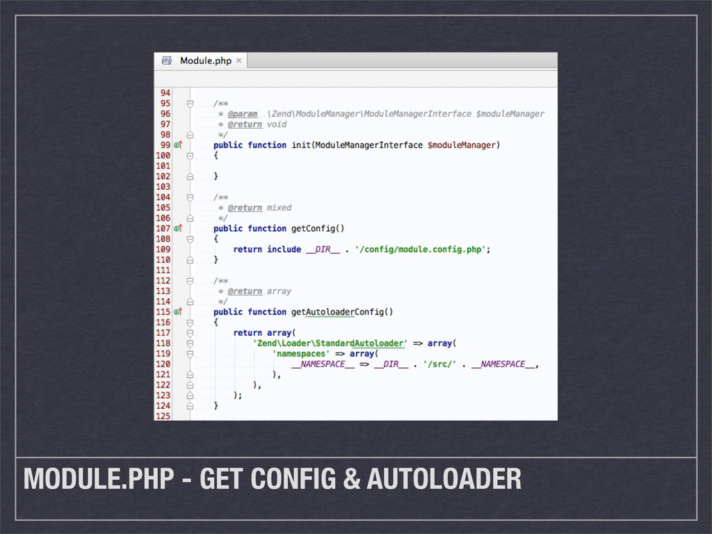 MODULE.PHP - GET CONFIG & AUTOLOADER