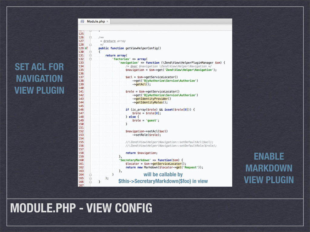 MODULE.PHP - VIEW CONFIG SET ACL FOR NAVIGATION...