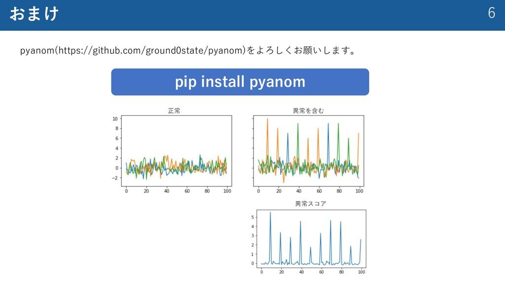 6 おまけ pyanom(https://github.com/ground0state/py...