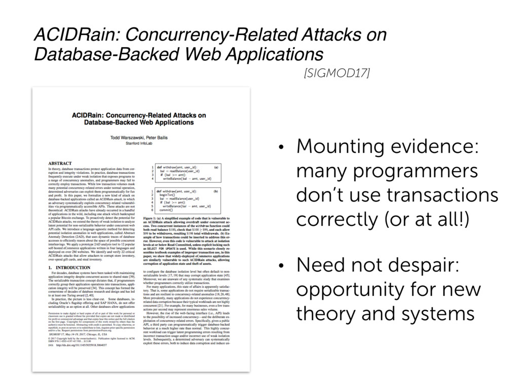 • Mounting evidence: many programmers don't use...