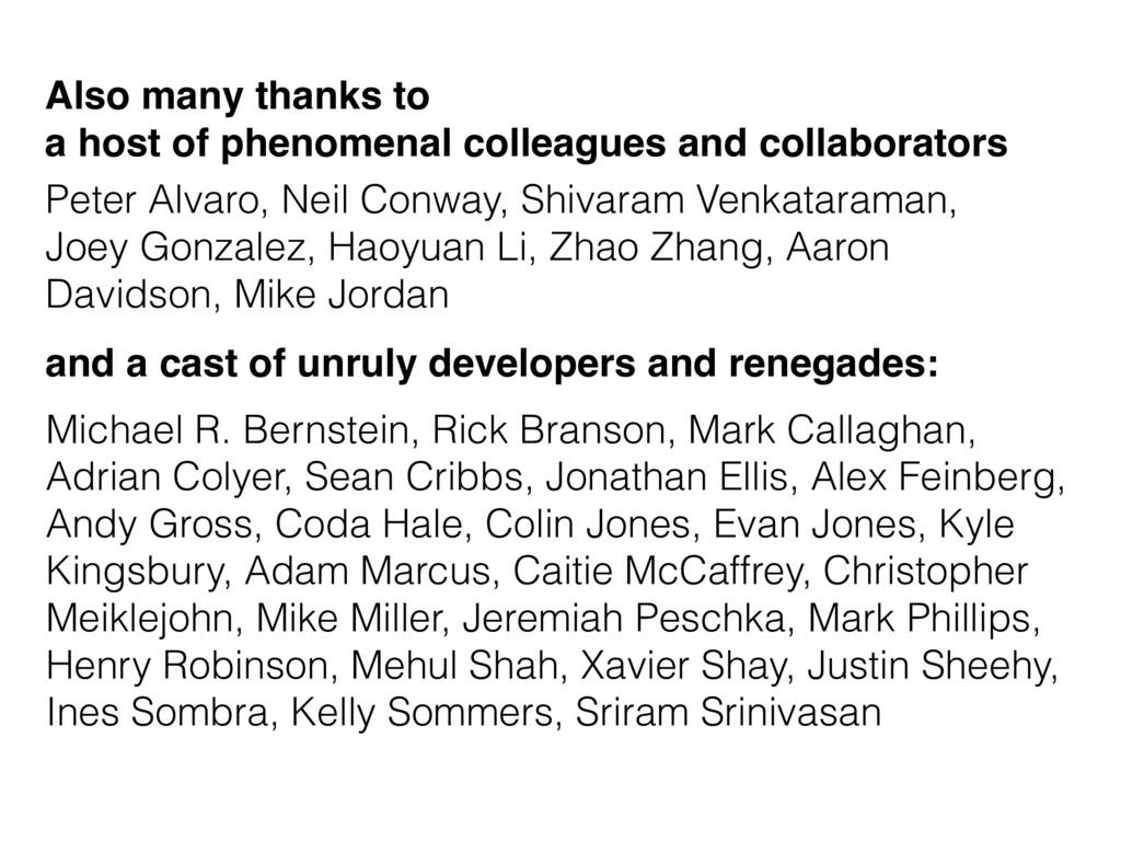 Michael R. Bernstein, Rick Branson, Mark Callag...