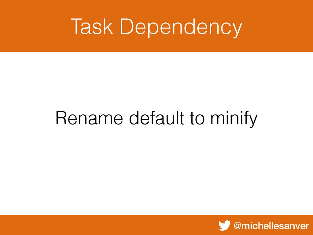 @michellesanver Task Dependency Rename default ...