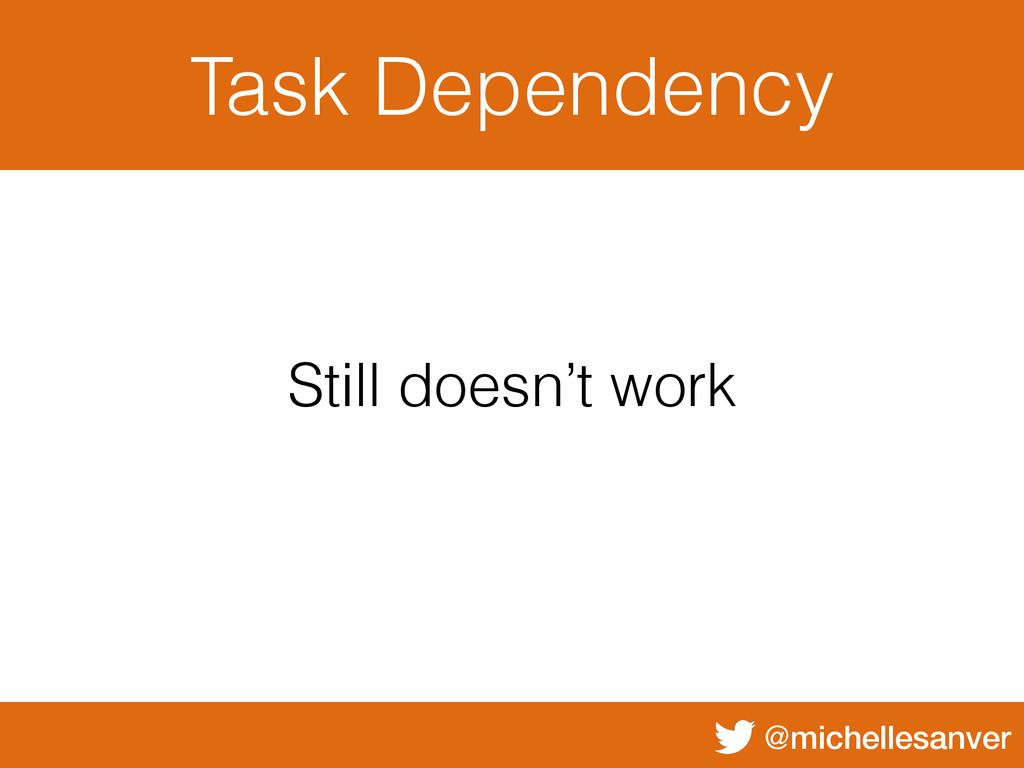 @michellesanver Task Dependency Still doesn't w...