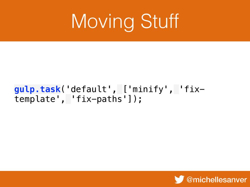 @michellesanver Moving Stuff gulp.task('default...