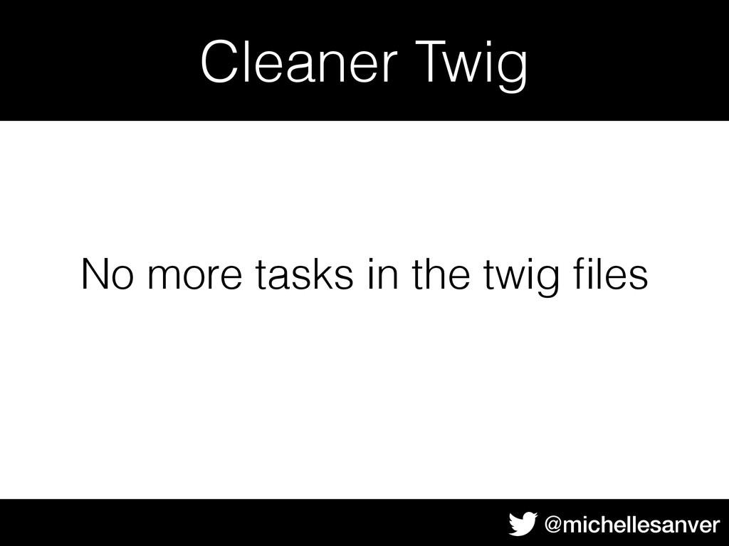 @michellesanver Cleaner Twig No more tasks in t...