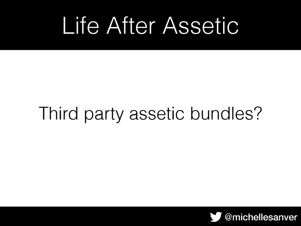@michellesanver Life After Assetic Third party ...