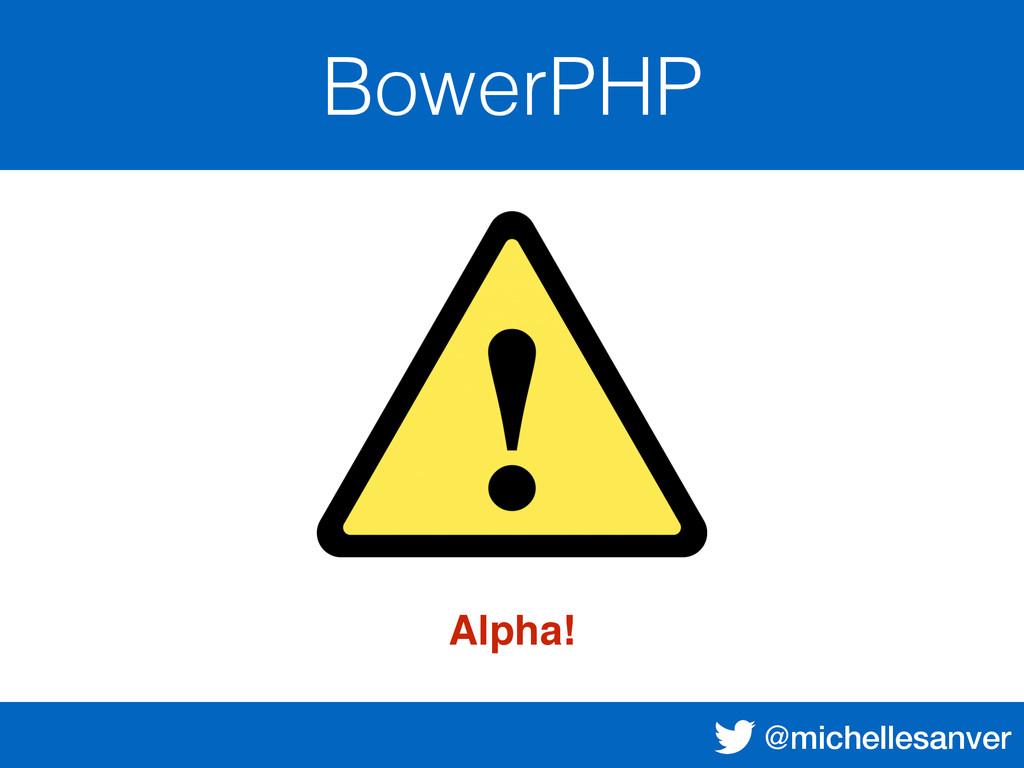 @michellesanver BowerPHP Alpha!