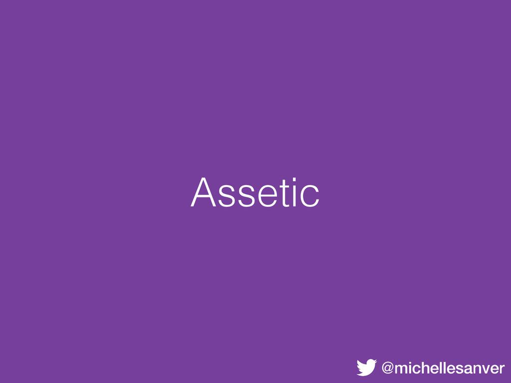 @michellesanver Assetic