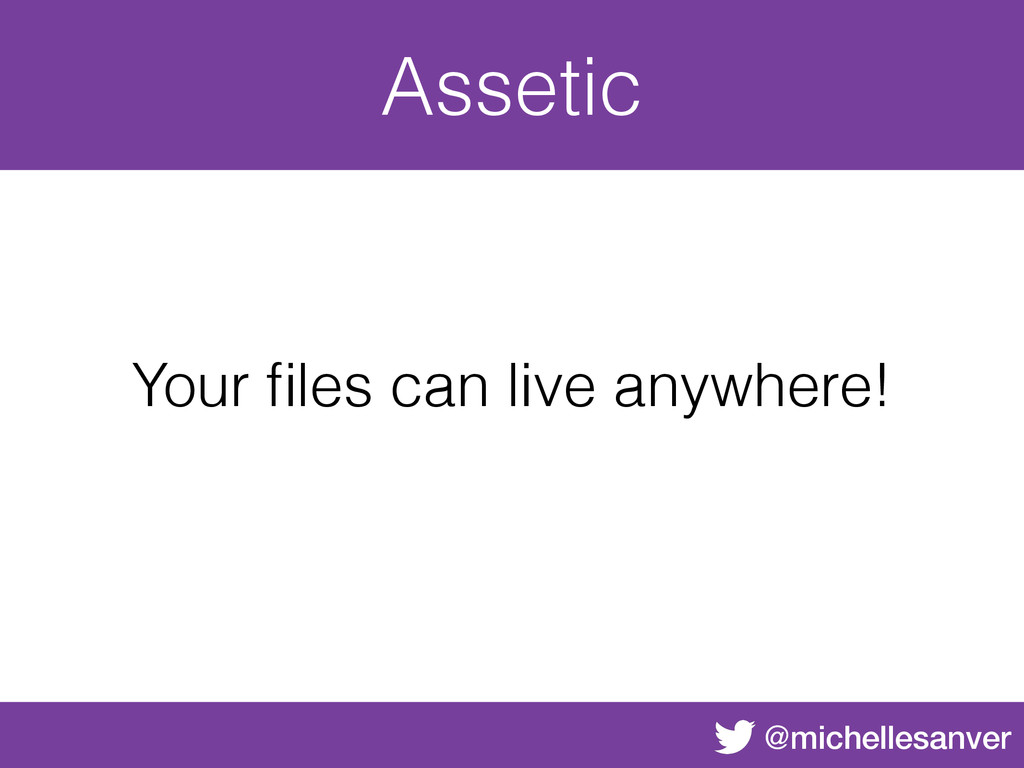 @michellesanver Assetic Your files can live anyw...