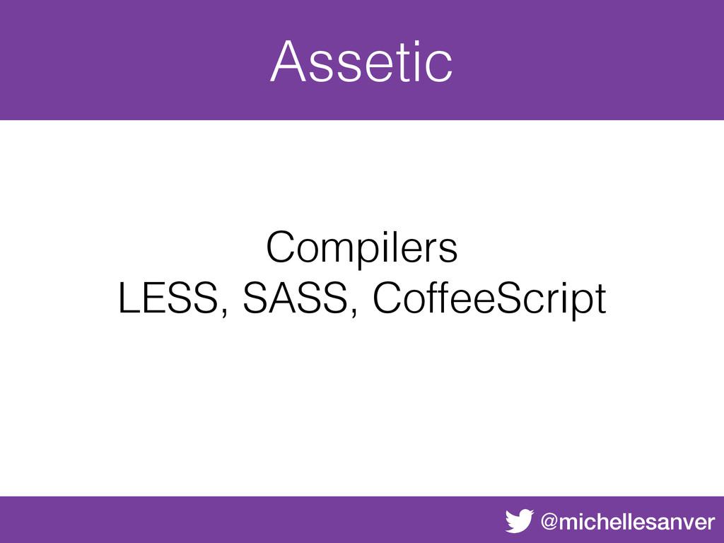 @michellesanver Assetic Compilers LESS, SASS, C...