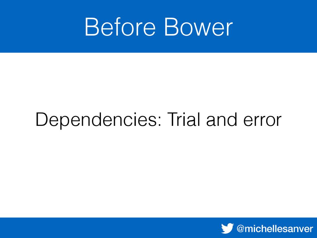 @michellesanver Before Bower Dependencies: Tria...