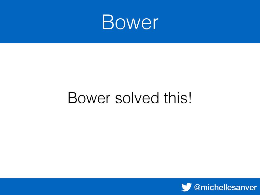 @michellesanver Bower Bower solved this!