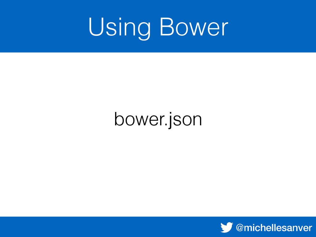 @michellesanver Using Bower bower.json