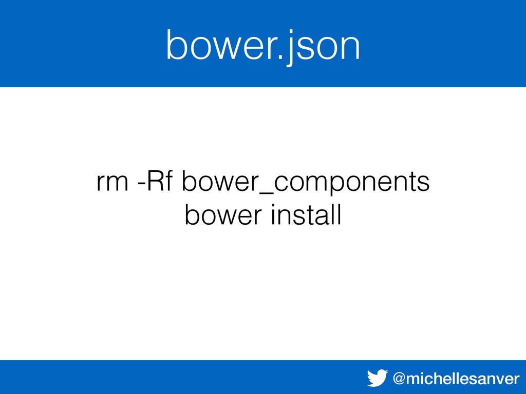 @michellesanver bower.json rm -Rf bower_compone...