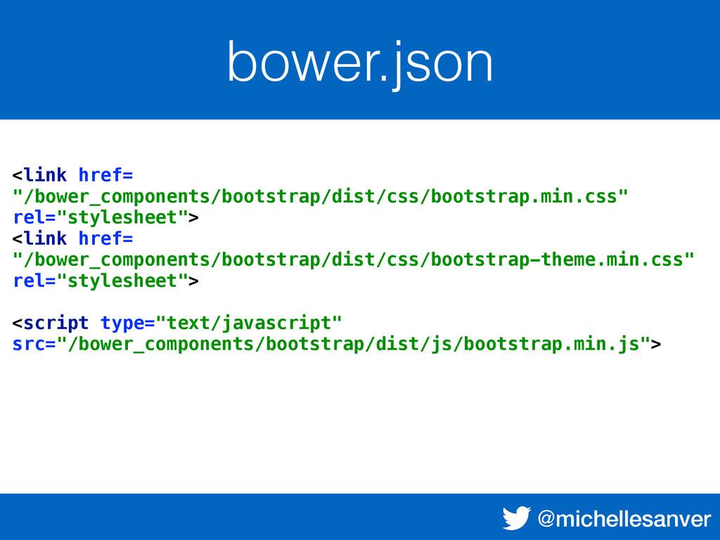 """@michellesanver bower.json <link href= """"/bower_..."""