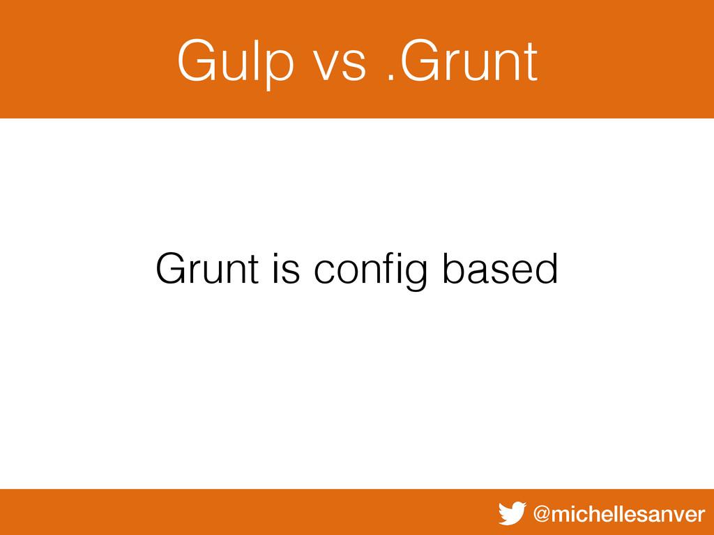 @michellesanver Gulp vs .Grunt Grunt is config b...