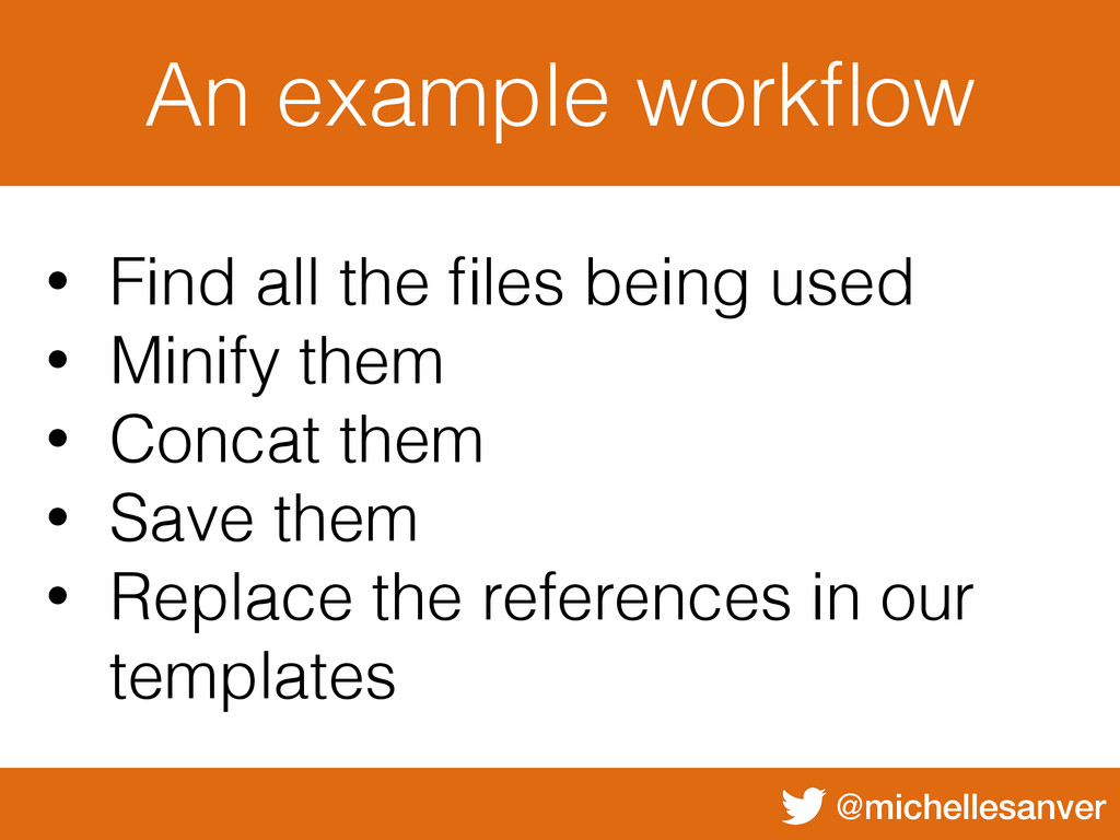 @michellesanver An example workflow • Find all t...